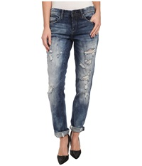 Blank Nyc Distressed Denim Boyfriend Relaxed Straight Jean In Fit Of Rage Fit Of Rage Women's Jeans Blue