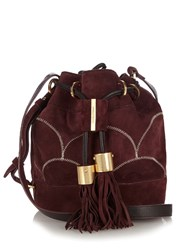 See By Chloe Vicki Suede Bucket Bag Burgundy