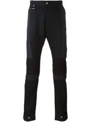 Philipp Plein Gathered Straight Leg Trousers Black
