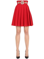 Stefano De Lellis Embellished High Waisted Pleated Skirt