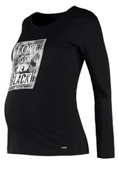 Bellybutton Long Sleeved Top Stretch Limo Black