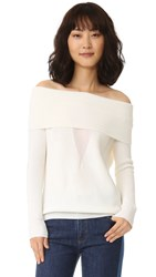 Cushnie Et Ochs Off Shoulder Sweater Soft White