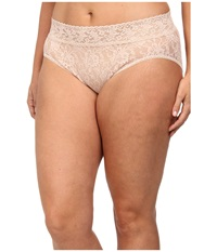 Hanky Panky Plus Size Signature Lace French Brief Chai Women's Underwear Brown