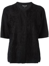 Emporio Armani Shortsleeved Cardigan Black