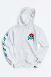 Urban Outfitters Eagle Hooded Sweatshirt White