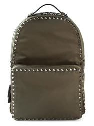 Valentino Garavani 'Rockstud' Backpack Green