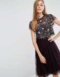Needle And Thread Enchanted Lace Top Aubergine Purple