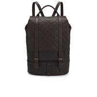 Knutsford Women's Quilted Leather Backpack Dark Brown