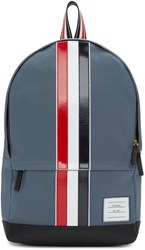 Thom Browne Grey And Tricolor Striped Backpack