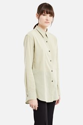 Christophe Lemaire Pointed Collar Shirt Almond Green