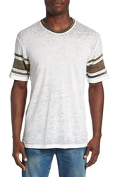 Alternative Apparel Men's 'Touchdown' Football T Shirt Eco Ivory