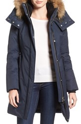 Mackage Women's 'Kerry' Genuine Fox Fur Trim Down Parka Navy