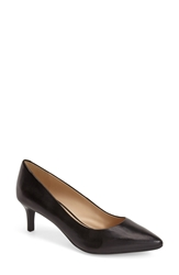 Geox 'Elina 2' Leather Pointy Toe Pump Women Black
