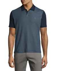Original Penguin Diamond Jacquard Polo Shirt Blue