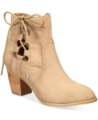 Report Cathleen Lace Up Booties Women's Shoes Taupe