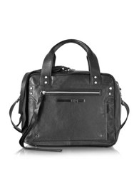 Mcq By Alexander Mcqueen Loveless Black Leather Medium Duffle Bag