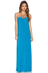 T Bags Losangeles Tribal Maxi Dress Blue