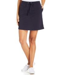 Karen Scott Sport A Line Knit Skort Bright White