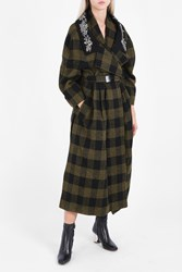 Preen A Connie Checked Coat Green