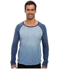 True Grit Genuine Indigo Knit Long Sleeve Slub Raglan Tee Denim Men's Long Sleeve Pullover Blue