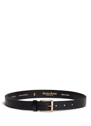 Maison Boinet Cowhide Leather Belt Black