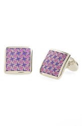 Men's David Donahue Enamel Cuff Links Violet