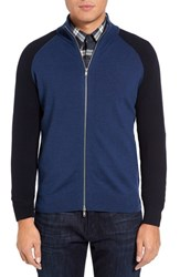 Theory Men's Eston Full Zip Sweater Blue Multi