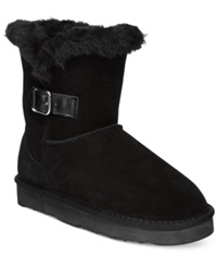 Style And Co. Tiny Cold Weather Booties Only At Macy's Women's Shoes Black