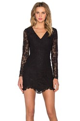 Nbd X Revolve Long Sleeve Look Back At It Dress Black