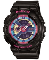 Baby G Women's Analog Digital Black Resin Strap Watch 46X43x16mm Ba112 1A
