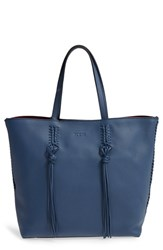 Tod's 'Medium Gipsy' Leather Tote Blue Navy