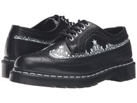 Dr. Martens 3989 Lace Wingtip Shoe Black Smooth Women's Lace Up Casual Shoes