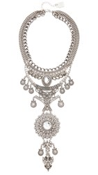 Adia Kibur Reese Statement Necklace Antique Silver