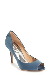 Women's Badgley Mischka 'Cali' Peep Toe Pump Stormy Blue