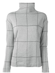 Majestic Filatures Checked Jumper Grey