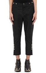 Balmain Men's Revolution Suspender Crop Trousers Black