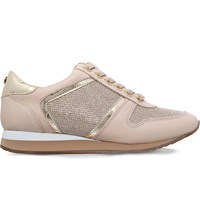 Carvela Lennie Mesh And Leather Trainers Nude