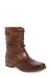Sofft Women's 'Saxton' Slouchy Buckle Strap Bootie Whiskey Tan Leather