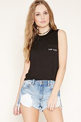 Forever 21 Camp Sleep Graphic Pocket Tee