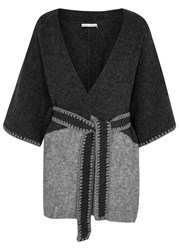Alice Olivia Rikkie Charcoal Belted Cardigan Grey