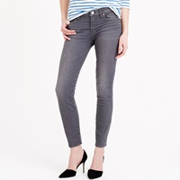 J.Crew Petite Toothpick Jean In Grey Dove Wash