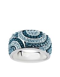 Lord And Taylor Sterling Silver Multi Colored Blue Crystal Ring