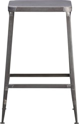 Cb2 Flint Steel 24'' Counter Stool