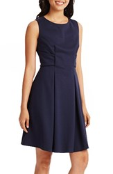 Donna Morgan Women's Pleat Ponte Knit Fit And Flare Dress