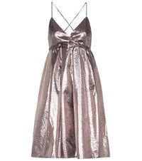 Victoria Beckham Mytheresa.Com Exclusive Metallic Dress Silver