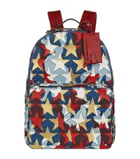 Valentino Camustars America Denim Backpack Unisex Blue