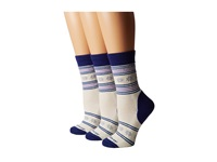 Fox River Nansen 3 Pair Pack Glass Women's Crew Cut Socks Shoes Clear