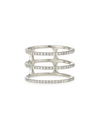 Diamond Triple Spiral Ring Ef Collection