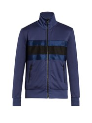 Ami Alexandre Mattiussi Zip Through Striped Jacket Navy Multi