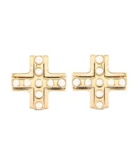 Givenchy Gold Plated Embellished Magnetic Earrings